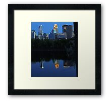 Skyline Reflections Framed Print