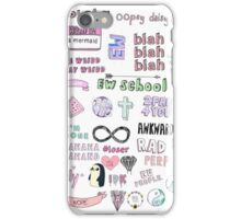 Tumblr Transparent Collage iPhone Case/Skin