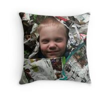 Buried up to my ears in Yard Work-Original photo Throw Pillow