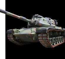 M48A2 Tank - Military Track Vehicle by Betty Northcutt