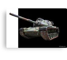 M48A2 Tank - Military Track Vehicle Canvas Print