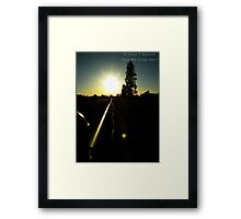 The Day's Farewell Framed Print