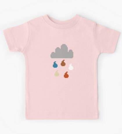Clouds - pixel art Kids Tee