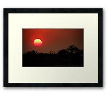 Two-tone Framed Print