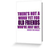 There's Not a Word Yet...(Purple) Greeting Card