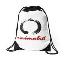 Minimalist Enso (Red) Drawstring Bag