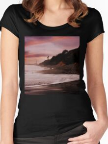 Wave Kissed Sunset Women's Fitted Scoop T-Shirt