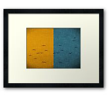Flock Salad Framed Print