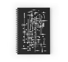 Kree City Blueprints (White) Spiral Notebook