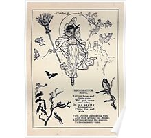Miniature Under the Window Pictures & Rhymes for Children Kate Greenaway 1880 0016 Broomstick Ride Poster