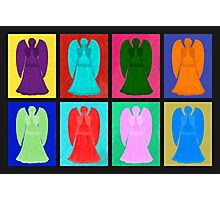 Weeping angels Pop Art Colour Photographic Print