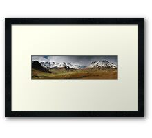 The Snow Capped Langedales Framed Print