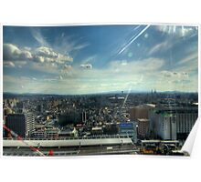 Kyoto City View HDR Poster