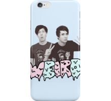 Peace Out Dan and Phil iPhone Case/Skin