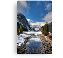 Lake Louise and Victoria Glacier Canvas Print