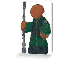 Plushie Teal'c Greeting Card