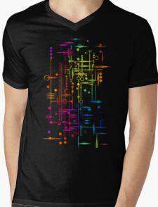 Kree City Blueprints (Watercolour Splatter) Mens V-Neck T-Shirt
