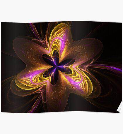 Etheral Flower Power Poster