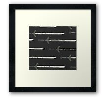 Fear Cuts Deeper Than Swords Framed Print