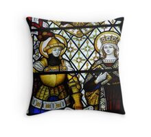"""Stained Glass - Kendal Church"" Throw Pillow"