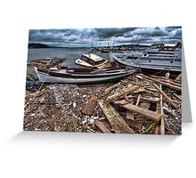 The Storm's Destruction Greeting Card