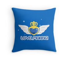 Battle Lover Cerulean Throw Pillow