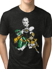 Green With White Tri-blend T-Shirt