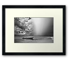 Fast coming rain Framed Print