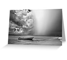 Fast coming rain Greeting Card