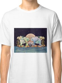 Lotus Flower Elephants of the Rainbow Classic T-Shirt