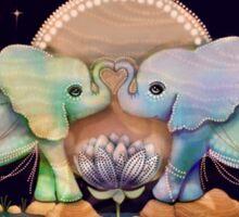 Lotus Flower Elephants of the Rainbow Sticker