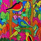 birds in the trees by carol selchert