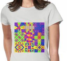 Tutti Frutti - Quasi-Quilt Womens Fitted T-Shirt