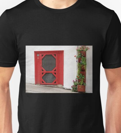 Short Red Door Unisex T-Shirt