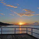 Torquay pier sunset by robert murray