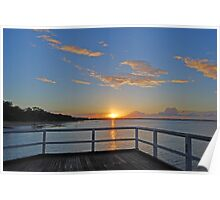 Torquay pier sunset Poster