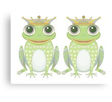 Two Frogs With Crowns Canvas Print
