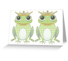 Two Frogs With Crowns Greeting Card