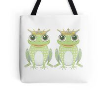 Two Frogs With Crowns Tote Bag