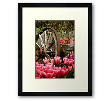 Wagon Wheels and Tulips Framed Print