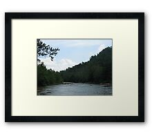 Beautiful stream with graceful skies Framed Print