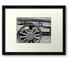 Wooden Wheels Framed Print