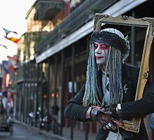 New Orleans Street Artist by milton ginos