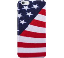 American Flag with canvas texture iPhone Case/Skin