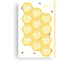 2015 Bees and Honeycomb Calendar Canvas Print
