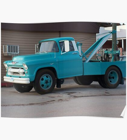 50's Chevrolet Tow Truck Poster