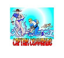 Captain Commando Versus Chun Li! Photographic Print