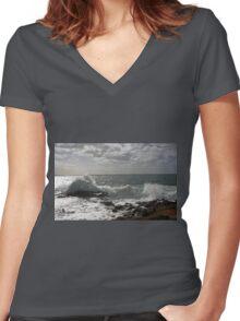 Kiama Ocean Swimming Pool #2 Women's Fitted V-Neck T-Shirt