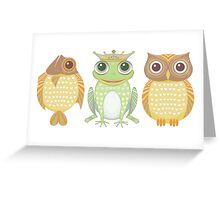Fish Frog Owl Greeting Card
