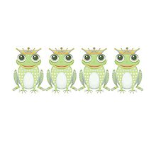 Quadruplet Princely Frogs by Jean Gregory  Evans